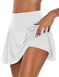 cheap -Women's Daily Wear Date Basic Sexy Swing Skirts Solid Colored Layered White Black Gray / Mini / Skinny