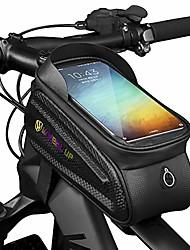 cheap -Bike Frame Bag - Waterproof Bike Phone Mount Handlebar Bag Phone Holder Bicycle Accessories for iPhone X/8/7 plus/7/6s/6 plus/5s