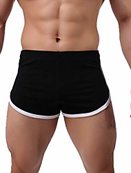 cheap -men's shorts quick-drying cotton, summer athletic sports fitness sweat-absorbing bodybuilding beach short pants trunks black