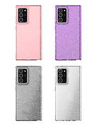 cheap -Case For Samsung Galaxy Note 20 Galaxy Note 20 Ultra Shockproof Transparent Glitter Shine Back Cover Transparent Solid Colored Glitter Shine TPU