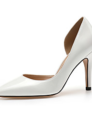 cheap -Women's Heels Stiletto Heel Pointed Toe Basic Sexy Daily Office & Career Solid Colored Patent Leather Almond / White / Black