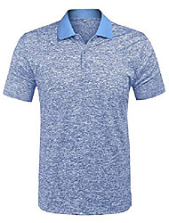 cheap -but& #39;s classic fit short sleeve golf polo shirts casual striped collar polo t shirt blue xl…