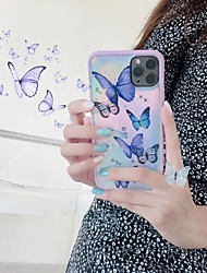 cheap -Cute Laser Butterfly Phone Case Card For IPhone 11 Pro Max XS Max XR 6 7 8 Plus Pink Glitter Purple Light Soft TPU Cover