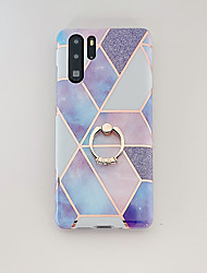 cheap -Phone Case For Huawei P20 P20 Pro P20 Lite Nova 3e Mate 20 Mate 20 Lite Mate 20 Pro P30 P30 Pro P30 Lite Nova 4e Plating Ring Holder Pattern Back Cover Marble