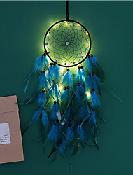 cheap -Dreamcatcher LED Feather Night Light Handmade Christmas Gift Wind Chime Folk Style Ornaments Holiday Christmas Wedding Events Decoration Valentine's Day Birthday Romantic Gift