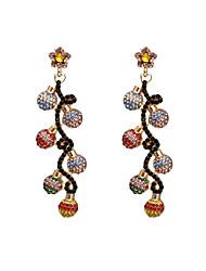 cheap -Women's Drop Earrings Earrings Dangle Earrings Fancy Fashion Statement Bohemian Baroque Romantic Korean Imitation Diamond Earrings Jewelry Gold For Gift Date Street Beach Festival / Crystal Earrings