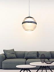 cheap -1-Light 8cm(3.2 Inches) LED Pendant Light Metal Acrylic Globe Chrome Modern Contemporary 110-120V / 220-240V
