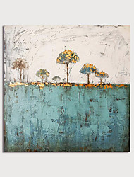 cheap -Hand Painted Canvas Oilpainting Square Abstract Landscape Home Decoration with Frame Painting Ready to Hang With Stretched Frame