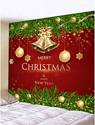cheap -Christmas Weihnachten Santa Claus Wall Tapestry Art Decor Blanket Curtain Picnic Tablecloth Hanging Home Bedroom Living Room Dorm Decoration Merry Christmas Tree Happy New Year Gift Polyester
