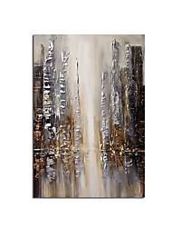 cheap -2020 New Handmade Abstract City and People Oil Painting Canvas Wall Art Paint Home Decor Home Decoration Wall No Frame Rolled Without Frame