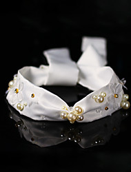 cheap -Crystal / Imitation Pearl / Fabrics Headbands with Pearl / Imitation Pearl / Crystal / Rhinestone 1 Piece Wedding Headpiece
