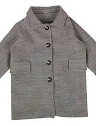 povoljno -Djeca Djevojčice Osnovni Jednobojni Kratkih rukava Bluza Tamno siva
