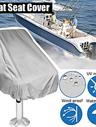"cheap -Boat Seat Cover, Outdoor Waterproof Polyester Folding Pedestal Pontoon Captain Boat Bench Chair Seat Cover for Helm Bucket Fixed Back Seat 22""x24""x25"" Gray"