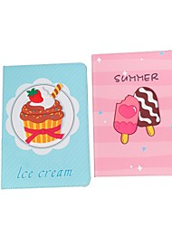 cheap -Case For Apple iPad  Mini 3 2 1 iPad Mini 4 iPad Mini 5 with Stand Flip Full Body Cases PU Leather TPU Protective Stand Cover Pattern  cute lovely ice cream summer