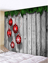 cheap -Christmas Weihnachten Santa Claus Wall Tapestry Art Decor Blanket Curtain Picnic Tablecloth Hanging Home Bedroom Living Room Dorm Decoration Merry Christmas Tree Gift Wooden Board Polyester