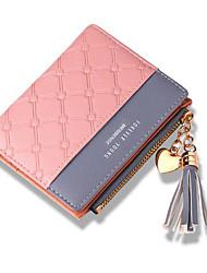 cheap -Women's Bags PU Leather Wallet Tassel Shopping Black Red Blushing Pink Light Purple