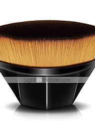 cheap -Foundation Brush for Liquid Makeup, Flat Kabuki Hexagon Face Blush Brush for Blending Liquid, Cream or  Powder Cosmetics with Bonus Protective Cas