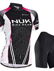 cheap -21Grams Women's Short Sleeve Cycling Jersey with Shorts Nylon Elastane Black Gradient Bike Shorts Waterproof Breathable Waterproof Zipper Sports Gradient Mountain Bike MTB Road Bike Cycling Clothing