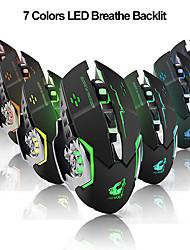 cheap -LITBest X8 Wireless 2.4G Optical Gaming Mouse Ergonomic Mouse Led Breathing Light 1800 dpi 3 Adjustable DPI Levels 6 pcs Keys