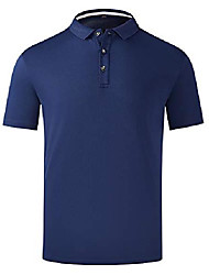 cheap -but& #39;s summer lightweight breathable workout training gym shirts mesh fitness sports polo golf shirts& #40;navy,us m& #41;