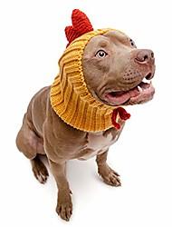 رخيصةأون -زي كلب الدجاج الديك - عقال العنق والأذن أكثر دفئا