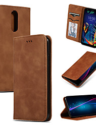 cheap -Case For LG V50 V50 ThinQ G8 G8 ThinQ Stylo 4 Q Stylus Stylo 5 K40 K12 Plus Card Holder Flip Full Body Cases Solid Colored PU Leather TPU