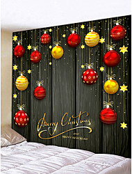cheap -Christmas Weihnachten Santa Claus Wall Tapestry Art Decor Blanket Curtain Picnic Tablecloth Hanging Home Bedroom Living Room Dorm Decoration Merry Christmas Tree Gift Chanbelier Star Polyester