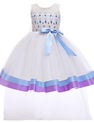 cheap -Elsa Dress Cosplay Costume Girls' Movie Cosplay Vacation Dress Halloween Blue Dress Christmas Halloween Carnival Polyester / Cotton