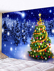 cheap -Christmas Weihnachten Santa Claus Wall Tapestry Art Decor Blanket Curtain Picnic Tablecloth Hanging Home Bedroom Living Room Dorm Decoration Christmas Tree Snow Forrest Star Polyester