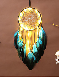 cheap -Dreamcatcher LED Feather Night Light Handmade Christmas Gift Wind Chime Ornaments Holiday Christmas Wedding Events Decoration Valentine's Day Birthday Romantic Gift