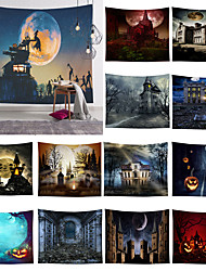 cheap -Halloween Tapestry Pumpkins Tree Print Wall Hanging Tapestry Art Home Decoration Bedspread Polyester Pattern Cloth Tapestries