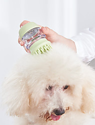 cheap -Dog Cat Brush & Comb Grooming Brush Set Bath Brush Cleaning Brush Plastic Comb Brush Baths Portable Washable Travel Pet Grooming Supplies Gold