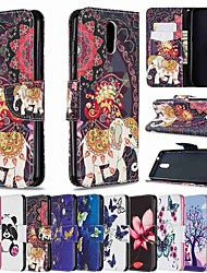cheap -Phone Case For Nokia 1.3 Nokia 2.3 Nokia 5.3 Wallet Card Holder with Stand Full Body Cases Golden Butterfly leather for Nokia 6.2 Nokia 2.2 Nokia 3.2