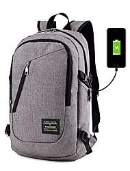 cheap -USB Port School Bag / Commuter Backpacks Unisex Nylon Zipper Daily Dark Blue