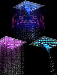cheap -Contemporary Rain Shower Chrome Feature - LED / Shower / Rainfall, Shower Head