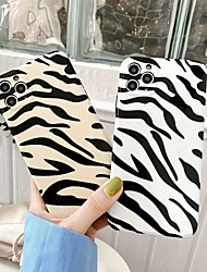 cheap -Case For Apple iPhone 7 8 7 plus 8 plus X XS MAX XR 11 11 PRO MAX SE Max Pattern Back Cover TPU Animal zebra