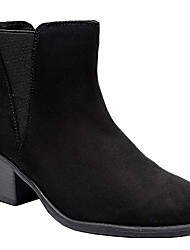 cheap -women& #39;s wide width ankle boots, classic mid heel back zipper cozy comfortable chelsea booties.& #40;190519 black 10ww& #41;