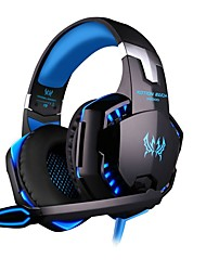 cheap -KOTION EACH G2000 Gaming Headset 7.1 Channel Sound Bass Headphones LED Microphone Inline Control Package with Headphone and Mic Adapter for Desktop Computer