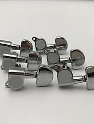 cheap -6R Chrome Inline Locked String Guitar Tuning Pegs keys Tuners Machine Heads for Strat Tele Style Electric Guitar MU0797