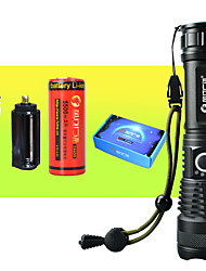 cheap -LED Flashlights / Torch Waterproof Zoomable LED 1 Emitters with Batteries with Battery and USB Cable Waterproof Zoomable Portable Camping / Hiking / Caving Everyday Use Cycling / Bike Outdoor USB
