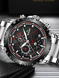 cheap -SWISH Men's Steel Band Watches Quartz Modern Style Sporty Casual Calendar / date / day Analog Black / Silver Black+Gloden Golden+Silver / Stainless Steel / Stainless Steel / Chronograph / Noctilucent