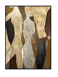 cheap -100% Hand painted Lovers Oil Paintings on Canvas Landscape Modern Abstract Lover Wall Picture For Living Room Decor Rolled Without Frame