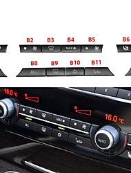 cheap -Black Air Conditioning Button Covers Compatible with BMW Jaronx Uprgaded Heater Climate Control Button Replacement-12Pcs(Fits BMW 5 6 7 X5 X6 Series)(B Model-12PCS)