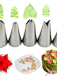 cheap -5Pcs Leaves Nozzles Stainless Steel Icing Piping Nozzles Tips Pastry Cake Decor