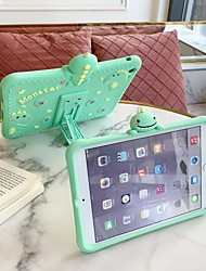 cheap -Case For Apple iPad Air / iPad 4/3/2 / iPad Mini 3/2/1 Shockproof / with Stand Back Cover Cartoon Silica Gel