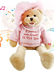 cheap -Electric Toys Stuffed Animal Plush Toy Princess Teddy Bear Gift Singing Shaking Head Interactive PP Plush Imaginative Play, Stocking, Great Birthday Gifts Party Favor Supplies Boys and Girls Kid's