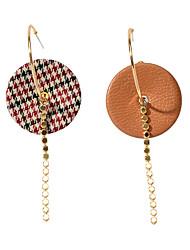 cheap -Women's Mismatch Earrings Geometrical Modern Earrings Jewelry Brown For Anniversary Date