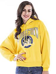 cheap -Women's Pullover Hoodie Sweatshirt Graphic Streetwear Hoodies Sweatshirts  Yellow