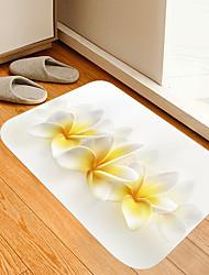 cheap -Yellow White Flowers Flowers Kitten Girl Modern Bath Mats Nonwoven / Memory Foam Novelty Bathroom