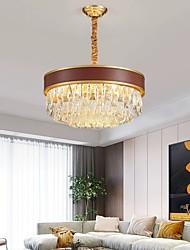 cheap -6-Light 50 cm Single Design Chandelier Gold Pendant Light Metal Modern 110-120V 220-240V